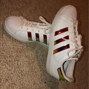 adidas Shoes - Iridescent Adidas Superstar Shoes